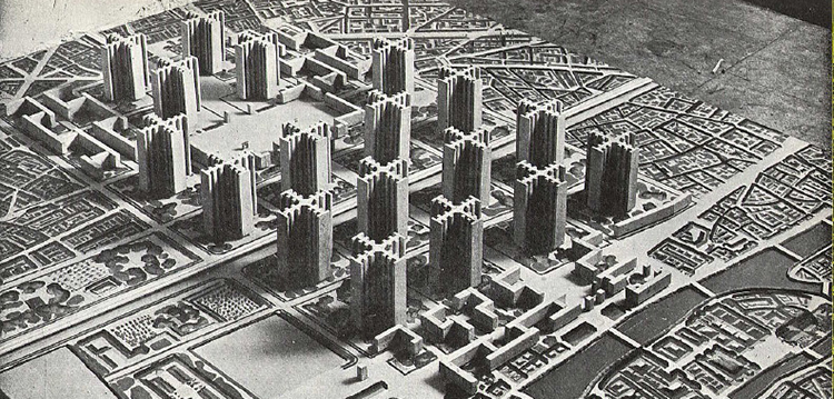 Corbusier cartesian skyscrapers
